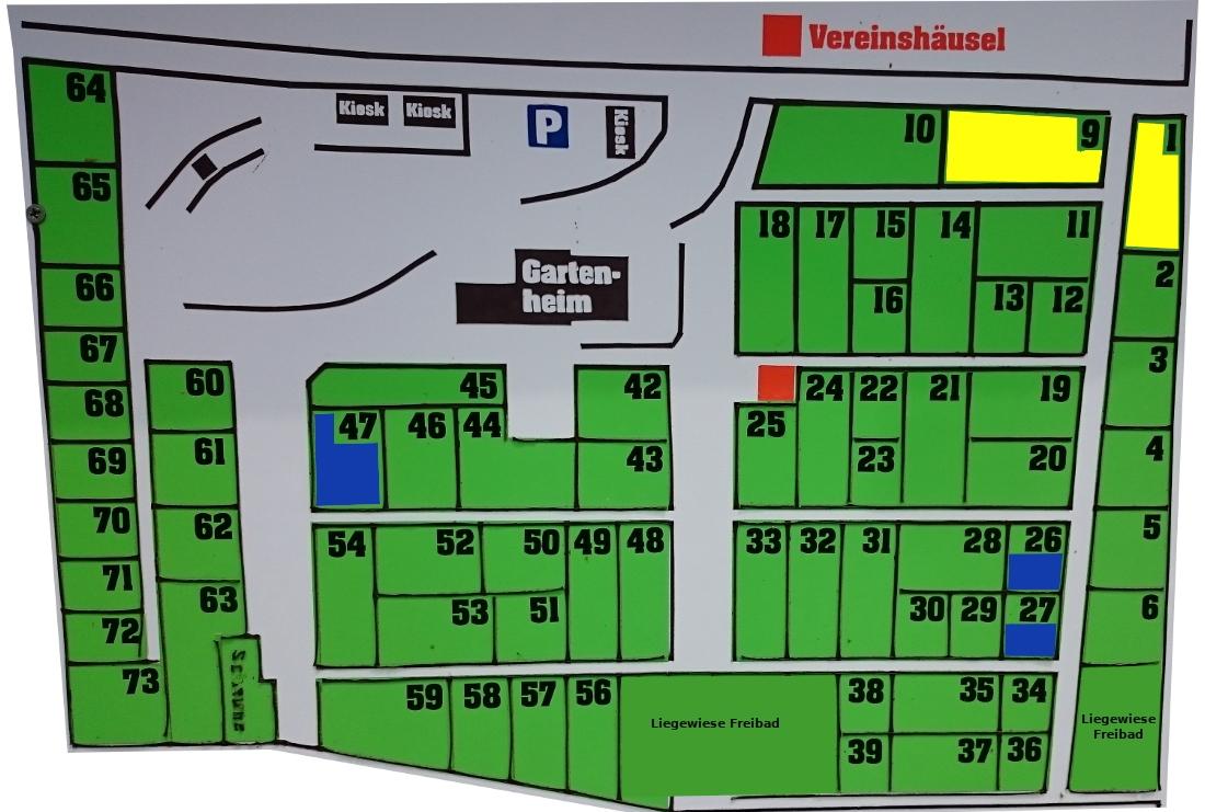 Plan Schreberg�rten, Kleing�rten Bernsbach